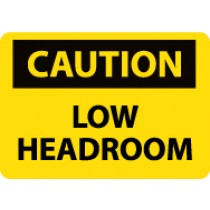 Caution Low Headroom Machine Label (#C43AP)