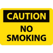 Caution No Smoking Sign (#C49LF)