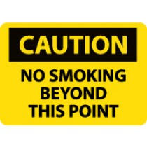 Caution No Smoking Beyond This Point Sign (#C51)