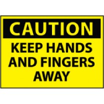 Caution Keep Hands And Fingers Away Machine Label (#C537AP)