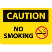 Caution No Smoking Sign (#C564LF)