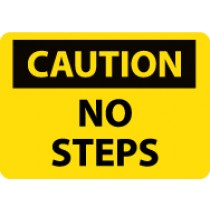 Caution No Steps Sign (#C565)