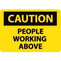 Caution People Working Above Sign (#C579)