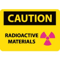 Caution Radioactive Materials Sign (#C592)