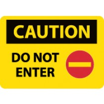 Caution Do Not Enter Sign (#C665LF)