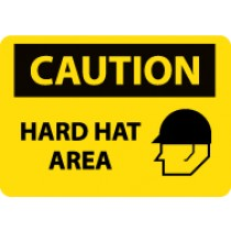 Caution Hard Hat Area Sign (#C666LF)