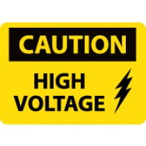 Caution High Voltage Sign (#C669LF)