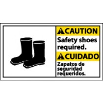 Caution Safety Shoes Required Spanish Sign (#CBA11)