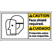 Caution Face Shield Required Spanish Sign (#CBA13)