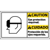 Caution Eye Protection Required Spanish Sign (#CBA5)