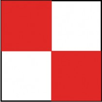 Checkerboard Safety Tape, Red & White (#CBT203)