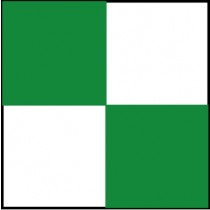 Checkerboard Safety Tape, Green & White (#CBT208)