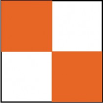 Checkerboard Safety Tape, Orange & White (#CBT209)