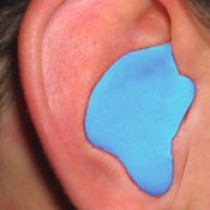 Custom Molded Earplugs, blue (#CEP001-B)