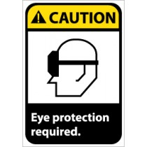Caution Eye protection required. Machine Label (#CGA10AP)