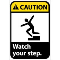 Caution Watch your step ANSI Sign (#CGA12)