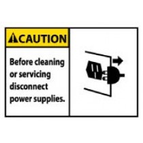 Caution Before cleaning or servicing disconnect power supplies. Machine Label (#CGA15AP)