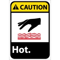 Caution Hot ANSI Sign (#CGA30)