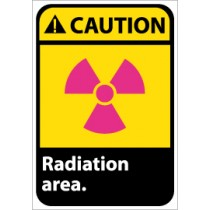 Caution Radiation area ANSI Sign (#CGA32)