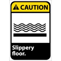 Caution Slippery floor ANSI Sign (#CGA34)