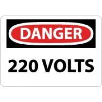 Danger 220 Volts Sign (#D100)