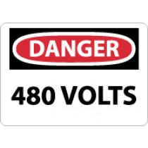 Danger 480 Volts Sign (#D101)
