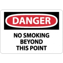 Danger No Smoking Beyond This Point Sign (#D152)