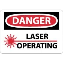 Danger Laser Operating Sign (#D169)