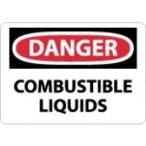 Danger Combustible Liquids Sign (#D241)