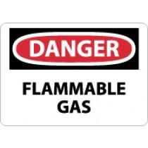 Danger Flammable Gas Sign (#D276)