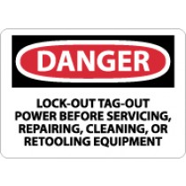 Danger Lock-Out Tag-Out Power Before Servicing… Sign (#D303)