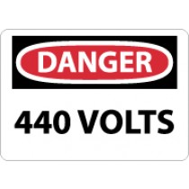 Danger 440 Volts Sign (#D325)