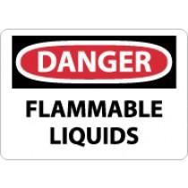 Danger Flammable Liquids Sign (#D38)