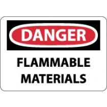 Danger Flammable Materials Sign (#D39)