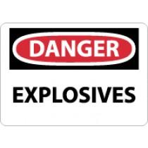 Danger Explosives Sign (#D435)