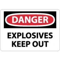 Danger Explosives Keep Out Sign (#D436)