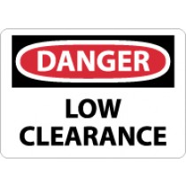 Danger Low Clearance Sign (#D451)