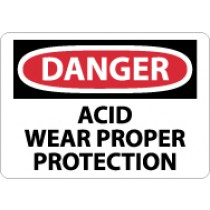 Danger Acid Wear Proper Protection Sign (#D474)