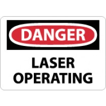 Danger Laser Operating Sign (#D569)