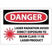 Danger Laser Radiation Avoid Direct Exposure… Sign (#D571)