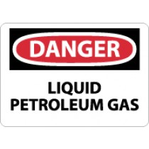 Danger Liquid Petroleum Gas Sign (#D576)