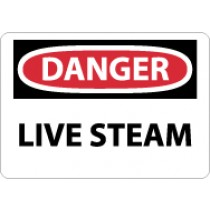 Danger Live Steam Sign (#D578)