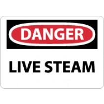 Danger Live Steam Sign (#D578)
