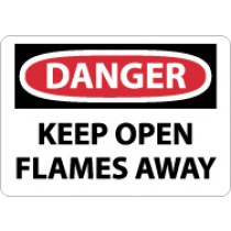 Danger Keep Open Flames Away Sign (#D57)
