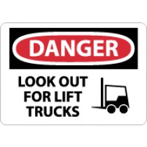 Danger Look Out For Lift Trucks Sign (#D582)