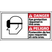 Danger Eye Protection Required In This Area Spanish Sign (#DBA2)