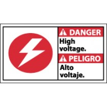 Danger High Voltage Spanish Sign (#DBA3)