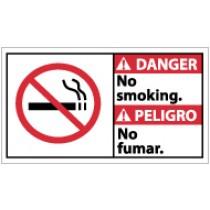 Danger No Smoking Spanish Sign (#DBA6)