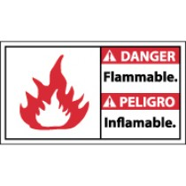 Danger Flammable Spanish Sign (#DBA7)
