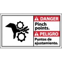 Danger Pinch Points Spanish Sign (#DBA9)